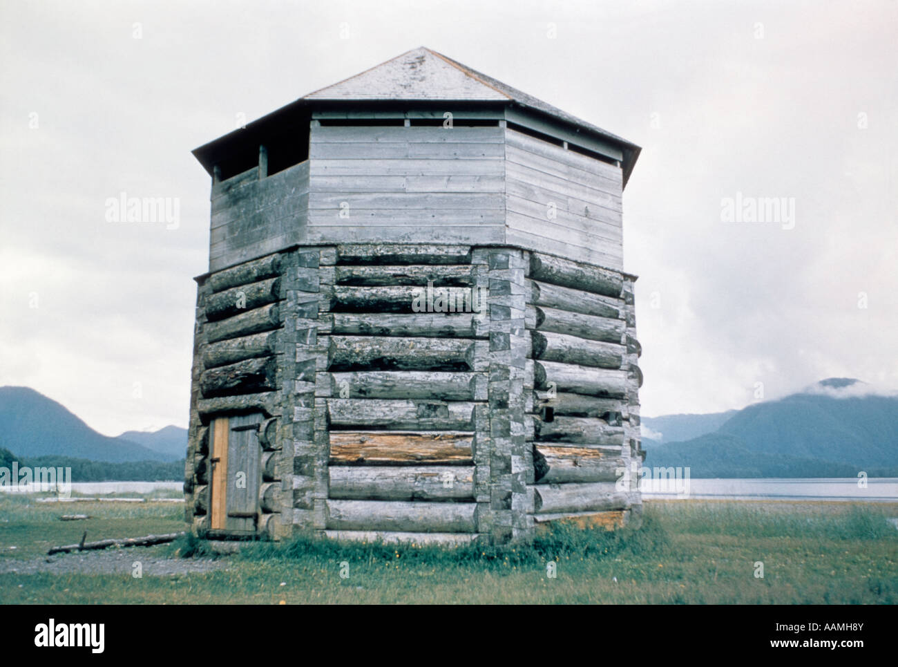 1960s russian blockhouse made of logs fort fortress sitka for Architecture 1960