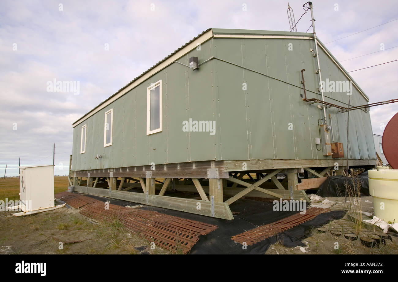 Eskimo house built above the permafrost on shishmaref for Building a house in alaska