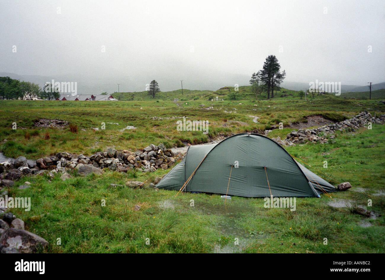 C&ing tent wet rain uk washed out c& & Camping tent wet rain uk washed out camp Stock Photo Royalty Free ...