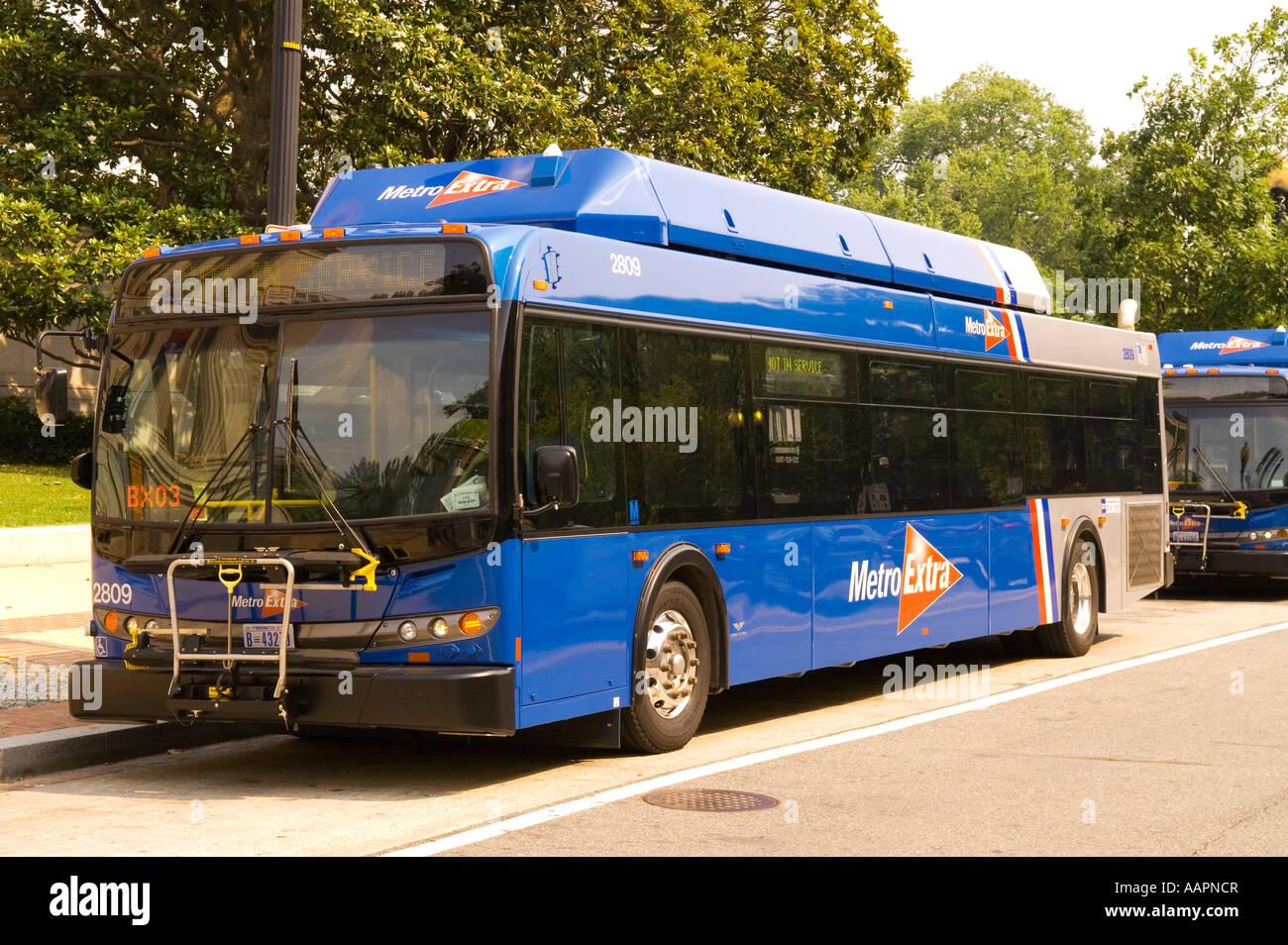 Metro Bus Cleaners Dc : Blue metro extra bus line washington dc usa stock photo