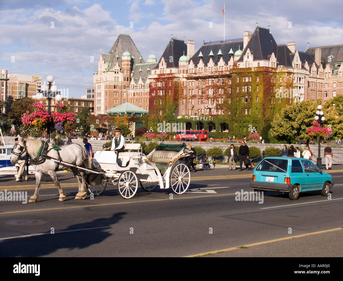 Horse Drawn Carriage And Empress Hotel Victoria British