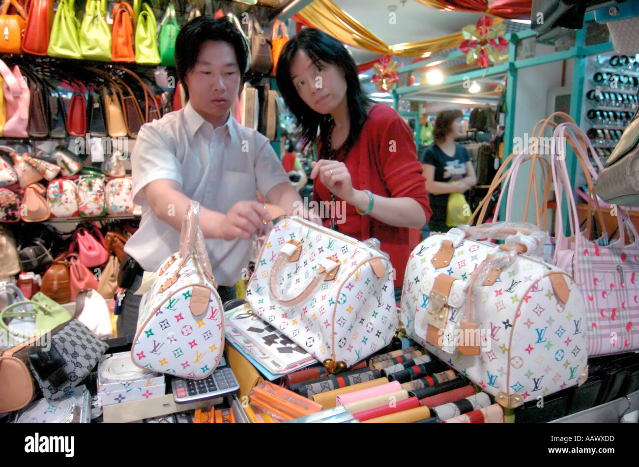 prada pink leather bag - Fake Brands Stock Photos \u0026amp; Fake Brands Stock Images - Alamy
