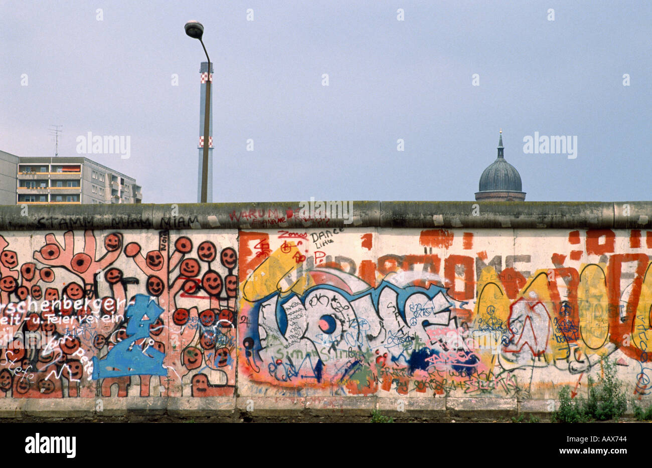 Political and emotional division of germany in symbolism of the berlin wall