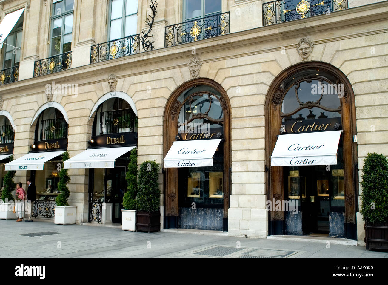 Cartier Place Vendome Jeweler Jewel Paris France Stock
