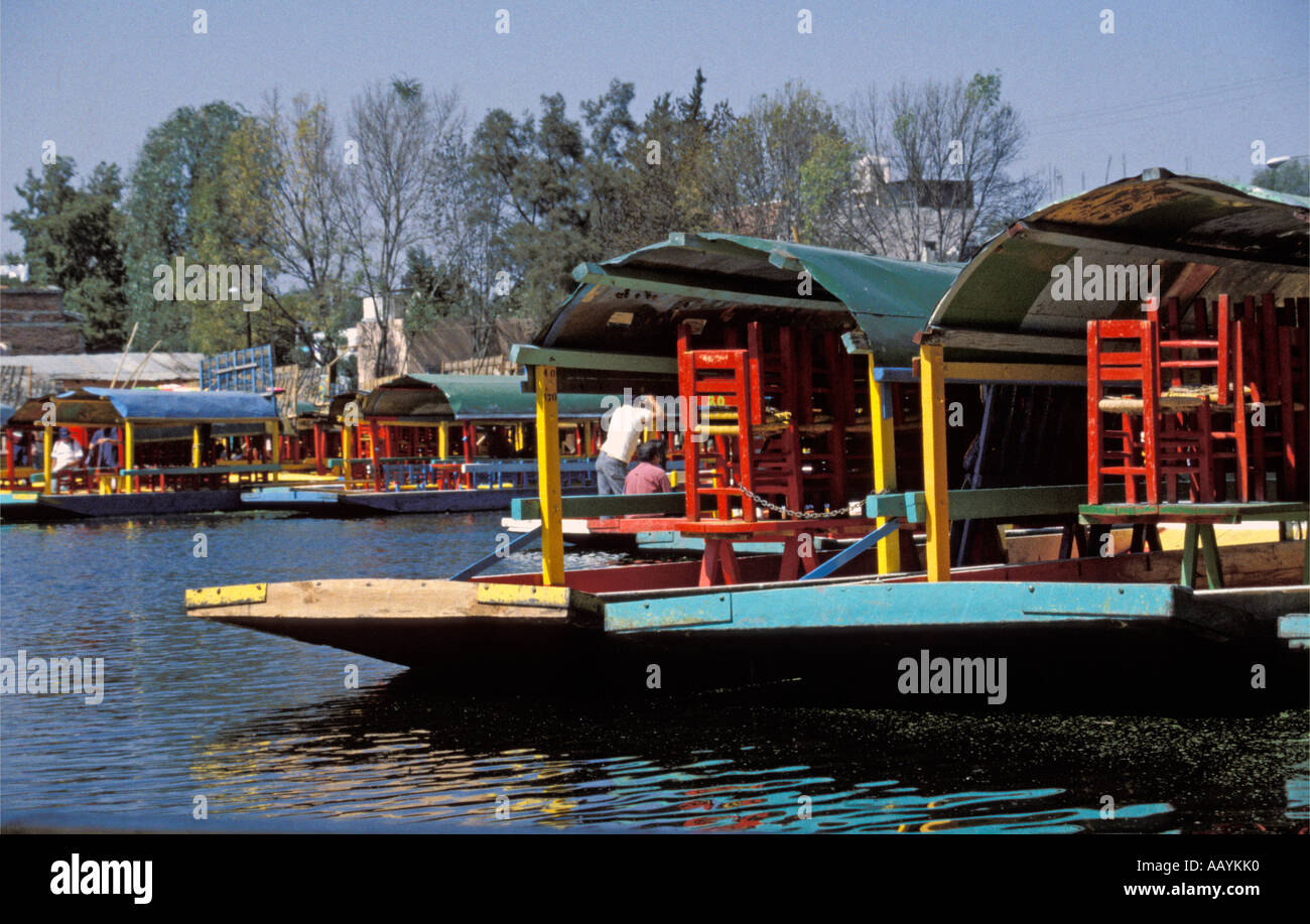 Boats In The Floating Gardens Of Xochimilco Mexico City Stock Photo Royalty Free Image