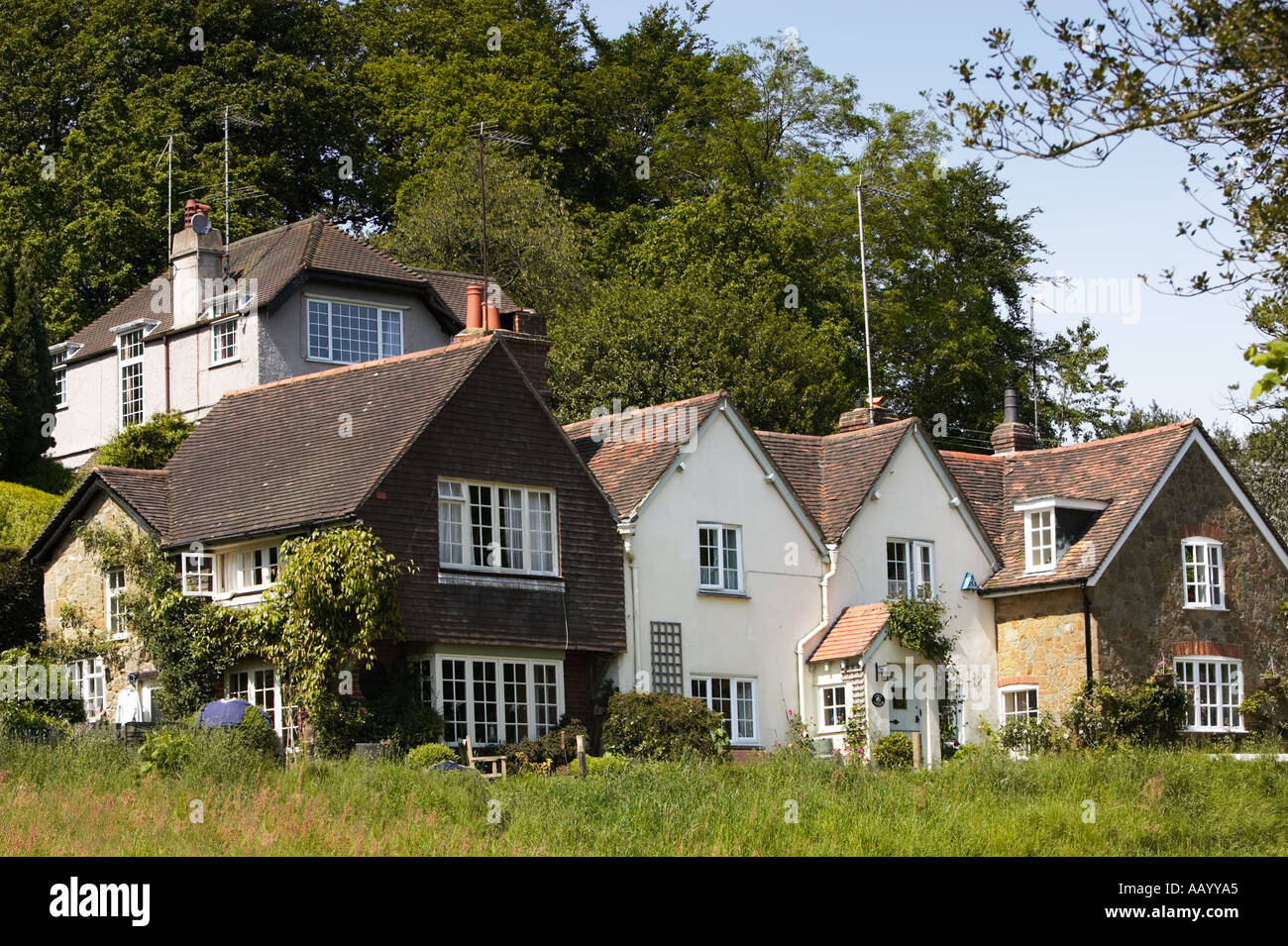 Traditional Old English Houses And Architecture At Coldharbour Surrey England UK