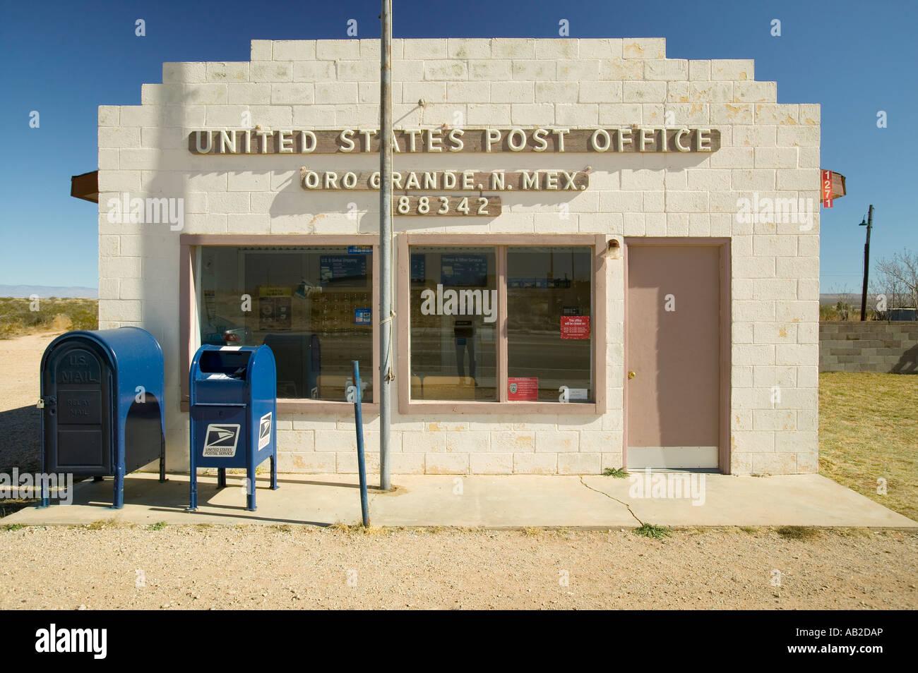 US Post Office In Oro Grande New Mexico Zip Code  Stock Photo - Us zip code range