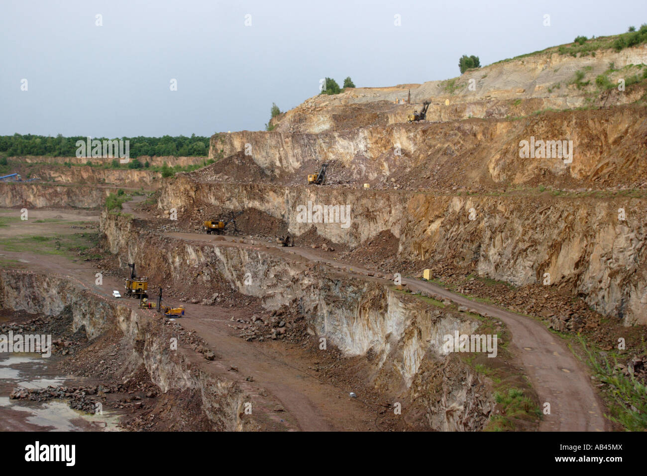 A quarry southern poland stock photo royalty free image for Landscape rock quarry alberta