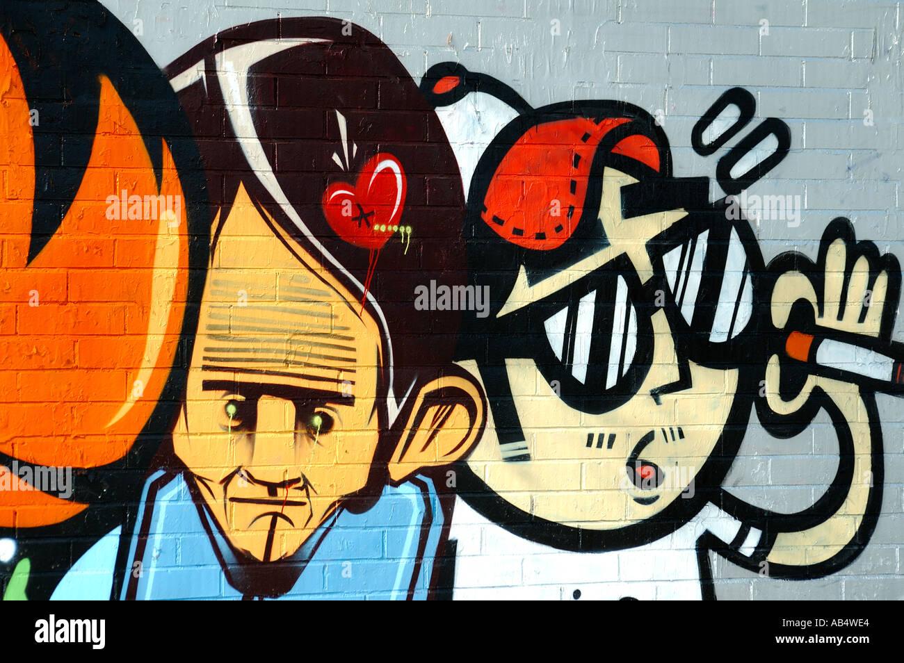 Graffiti wall barcelona - Graffiti On A Brick Wall Barcelona Spain