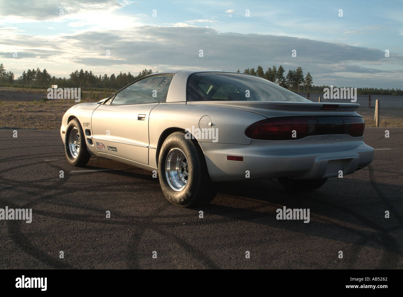 pontiac firebird drag racing car in finland at alastro drag strip ...