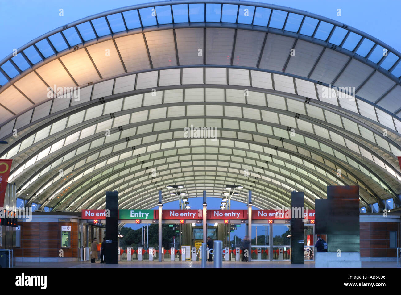 Sydney Olympic Park Train Station At Dusk Stock Photo Royalty