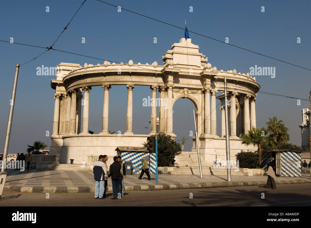 Stock Photo  The Neoclassical Unknown Soldier Monument, Alexandria, Egypt