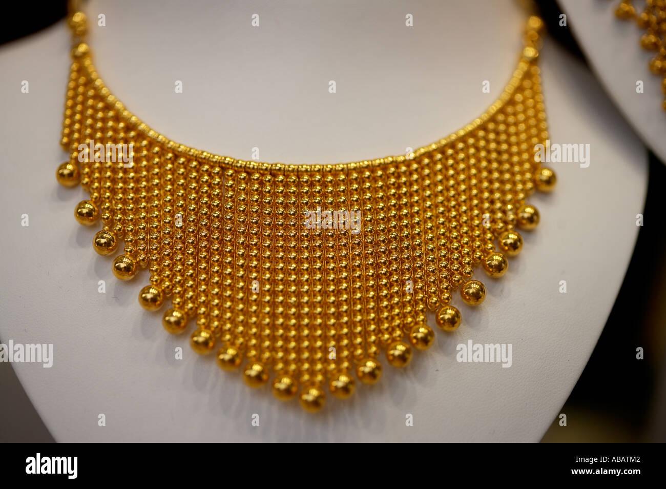 Dubai, Gold Souk, Necklace Stock Photo: 7333953 - Alamy