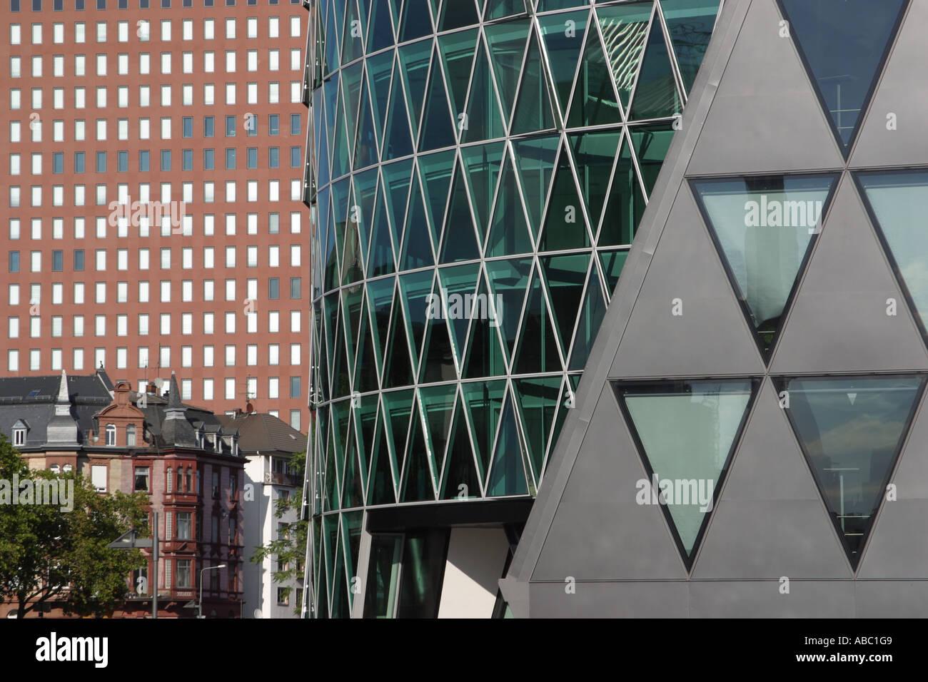 Schneider Schumacher facades of the forum and westhafentower built by schneider