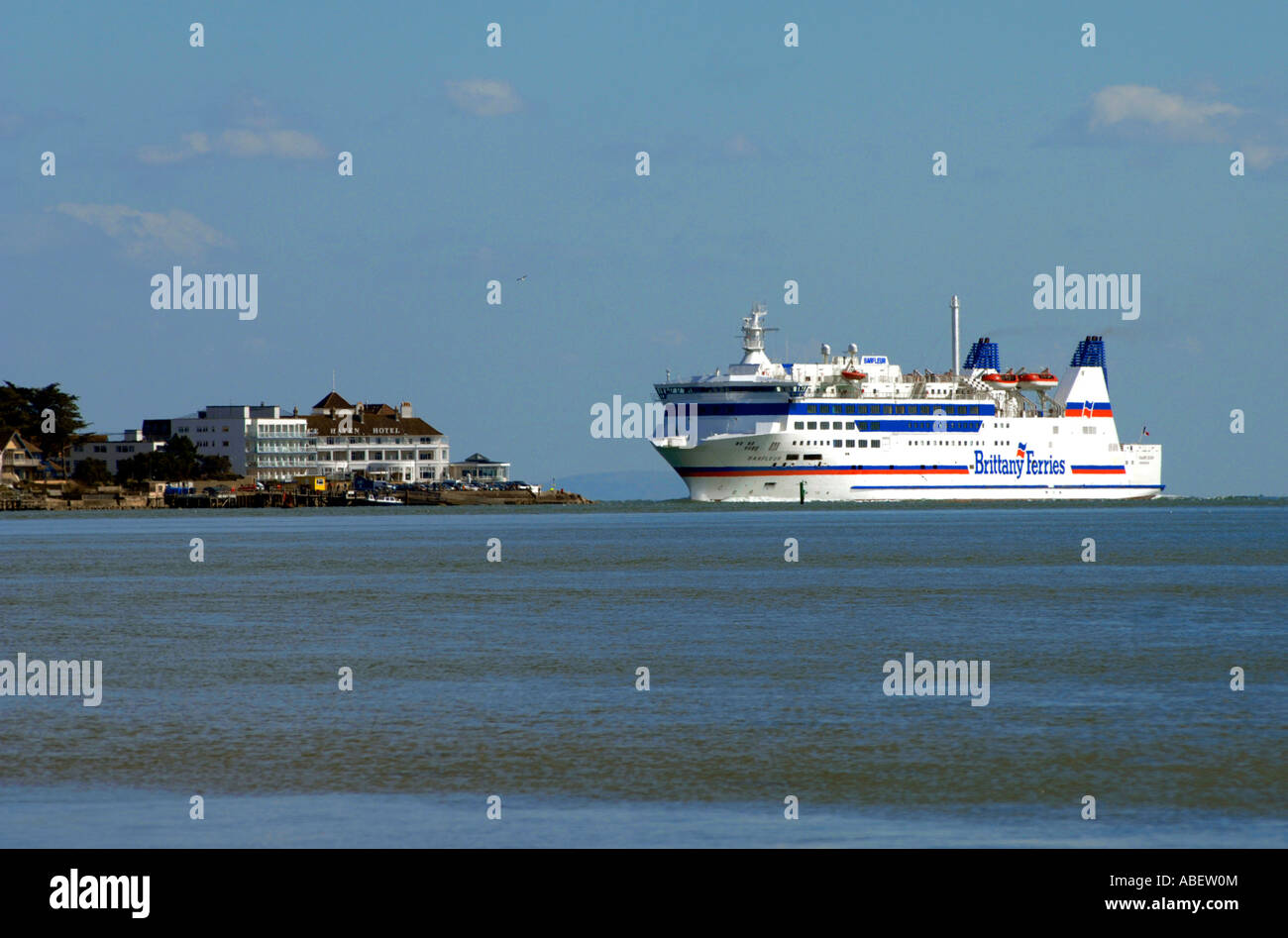 The Barfleur Brittany Ferries Car And Passenger Ferry Entering