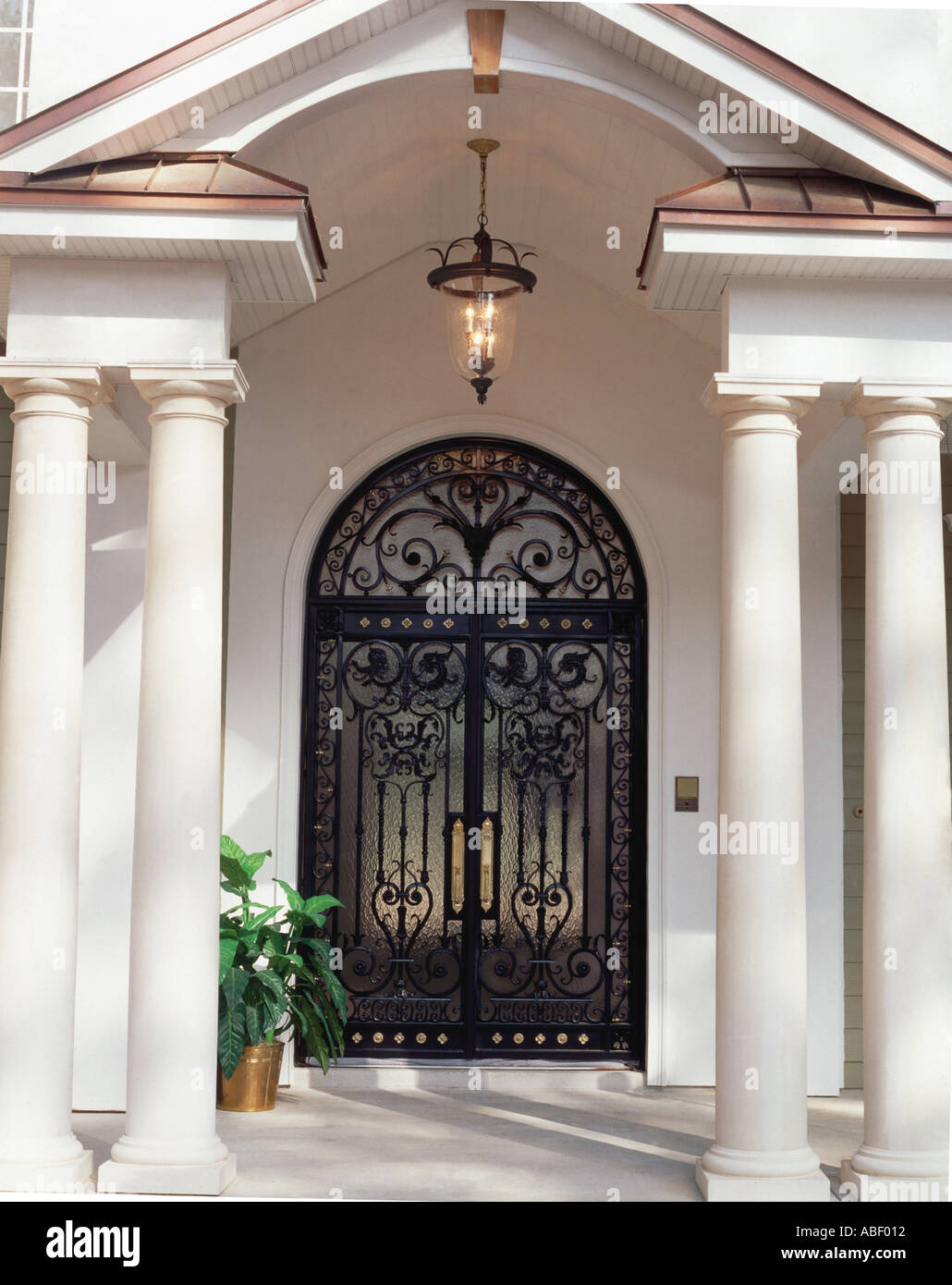 Custom wrought iron front doors installed on residential home custom wrought iron front doors installed on residential home rubansaba