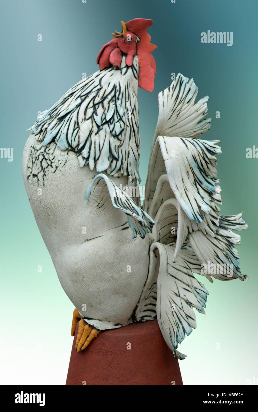 cockerel bird chicken hen rooster perch perched feather avian