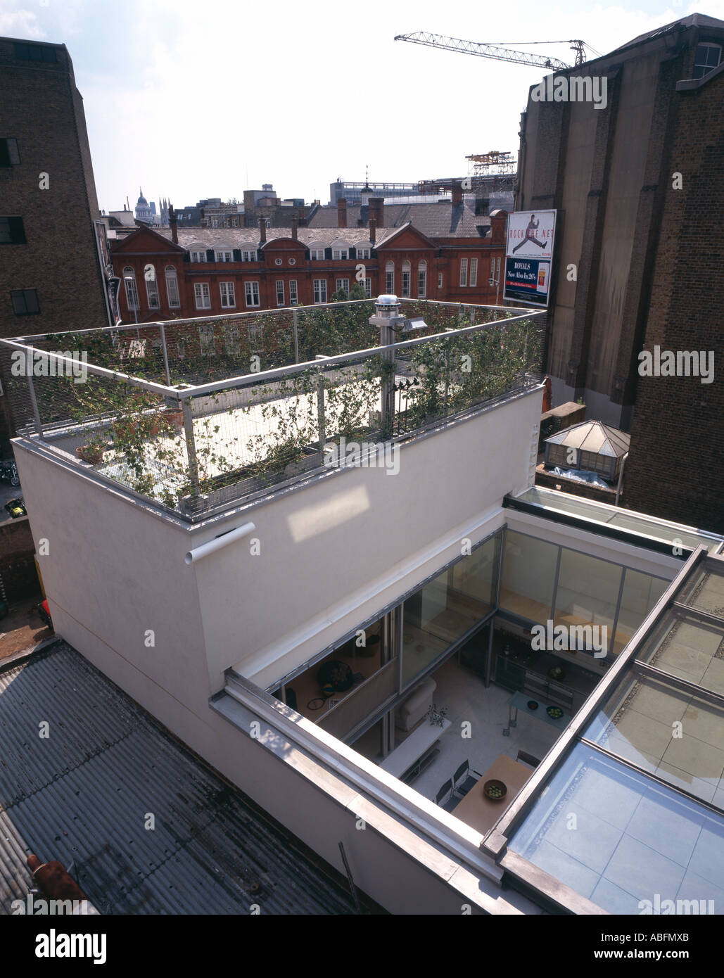 Glass Roof House house opening glass roof clerkenwell stock photos & house opening