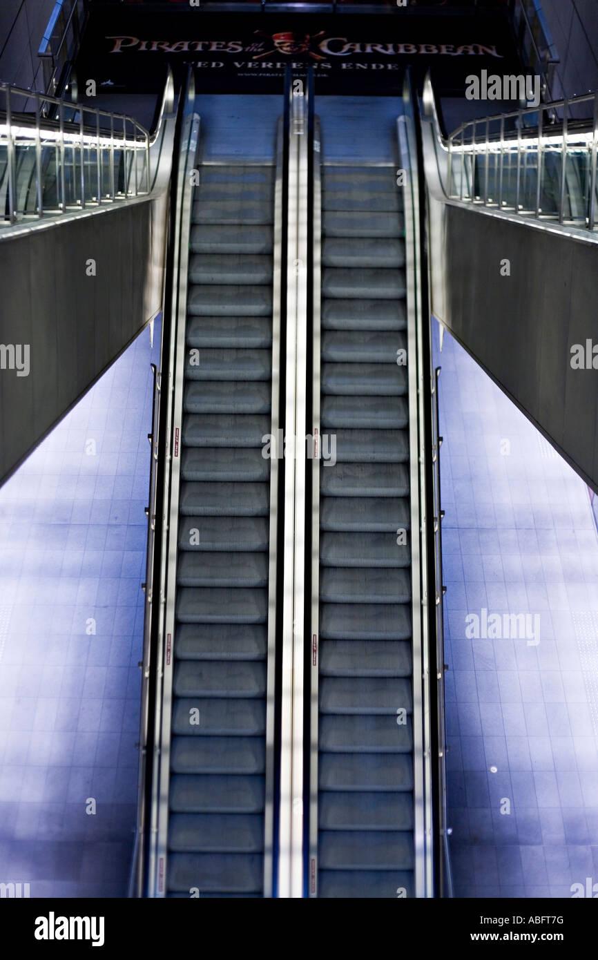 Stainless Steel Escalators : Escalator symmetry four escalators in stainless steel