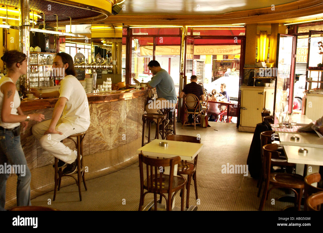the two windmills cafe les deux moulins is the setting of the film stock photo royalty free. Black Bedroom Furniture Sets. Home Design Ideas
