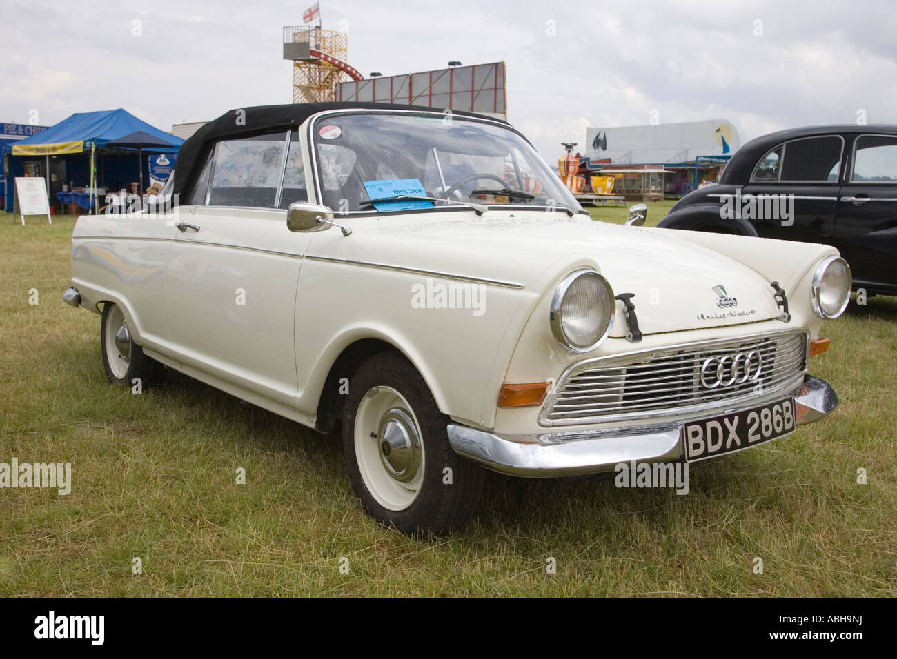 old classic Auto Union / Audi car on display at a car rally / show ...