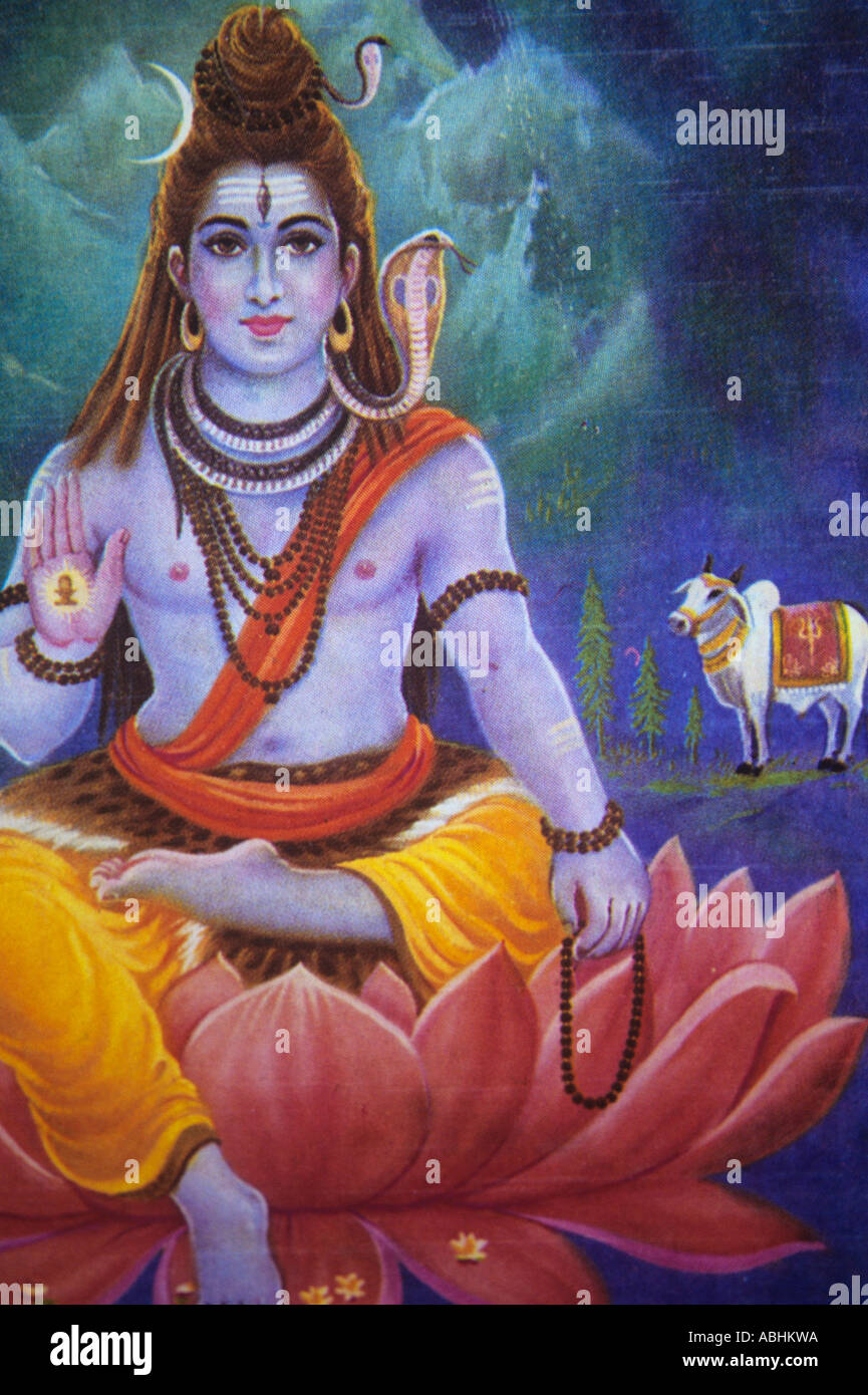 The hindu god krishna seated in a lotus flower stock photo stock photo the hindu god krishna seated in a lotus flower dhlflorist Choice Image