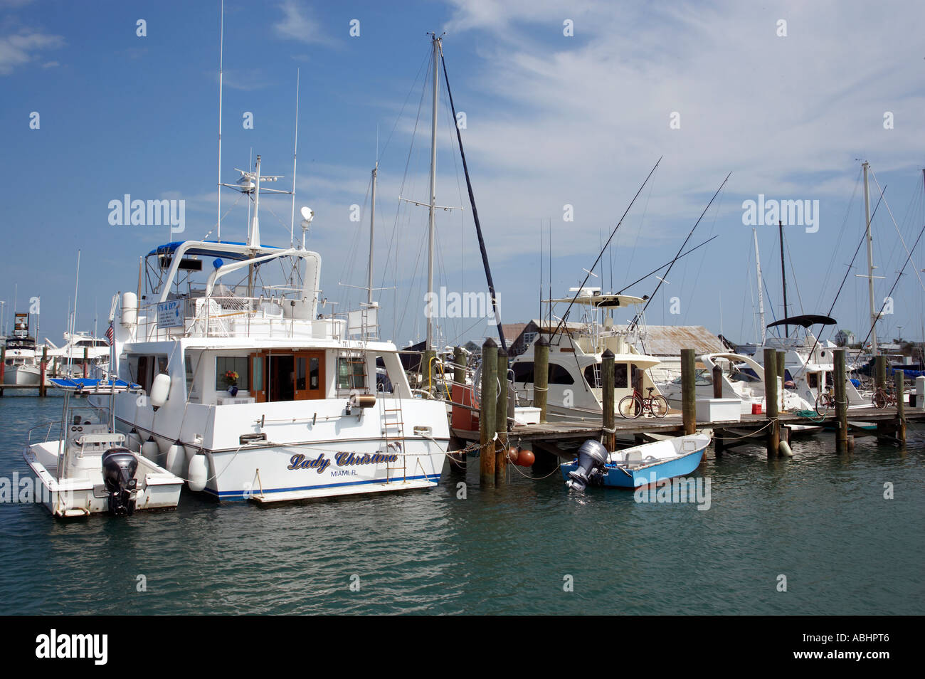 Deep sea fishing boats at the harbour of key west florida for Deep sea fishing key west florida