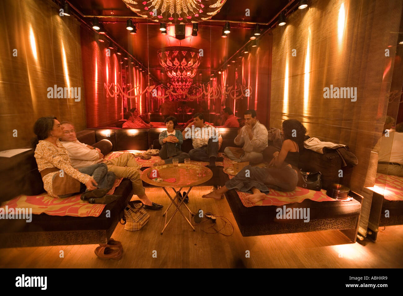People relaxing on lounge at Nomads arabic style ...