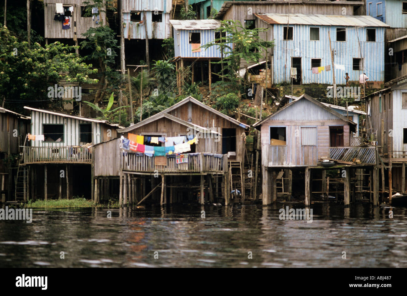 Brazilian Homes Manaus Brazil Poor Shanty Town Housing Houses Built On