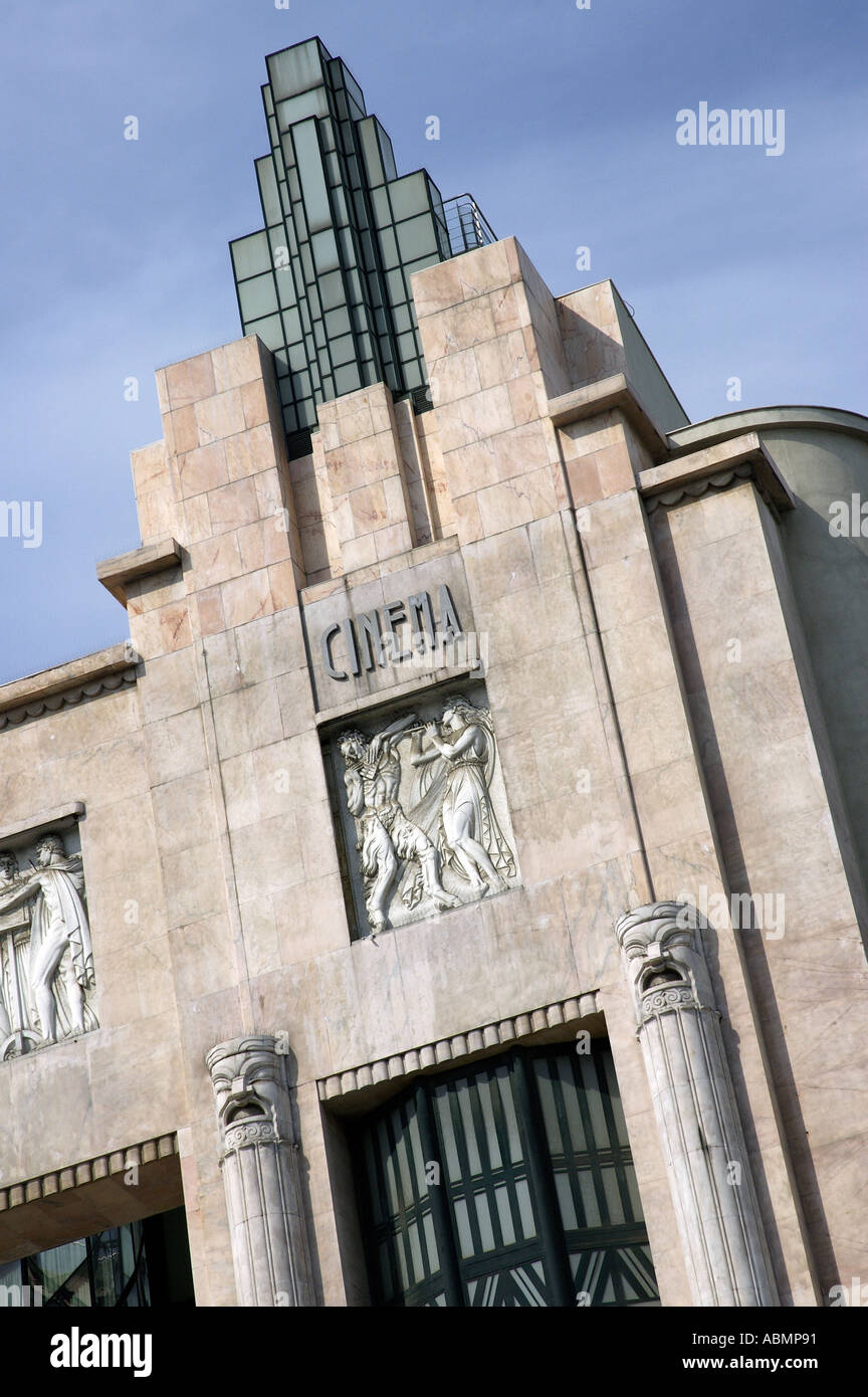 Art Deco Facade Of Eden Theatre By Cassiano Branco Lisbon