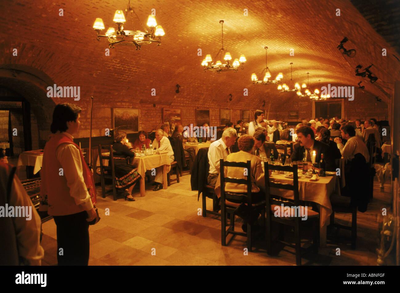 Hungarian Gypsy Music At Citadella Restaurant In Budapest