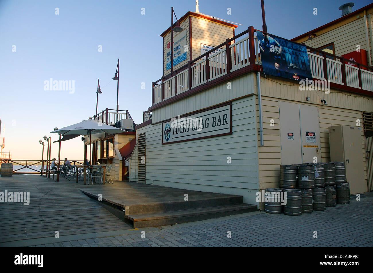 lucky shag bar on the barrack street jetty swan river. Black Bedroom Furniture Sets. Home Design Ideas