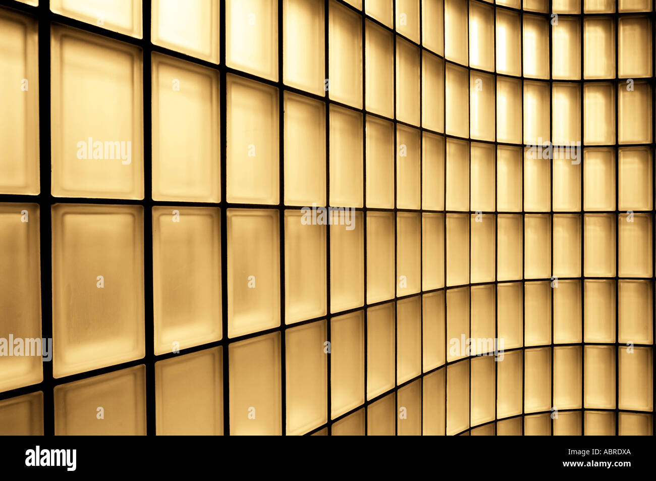 Small Square Glass Bricks In Wall Abstract Design Pattern