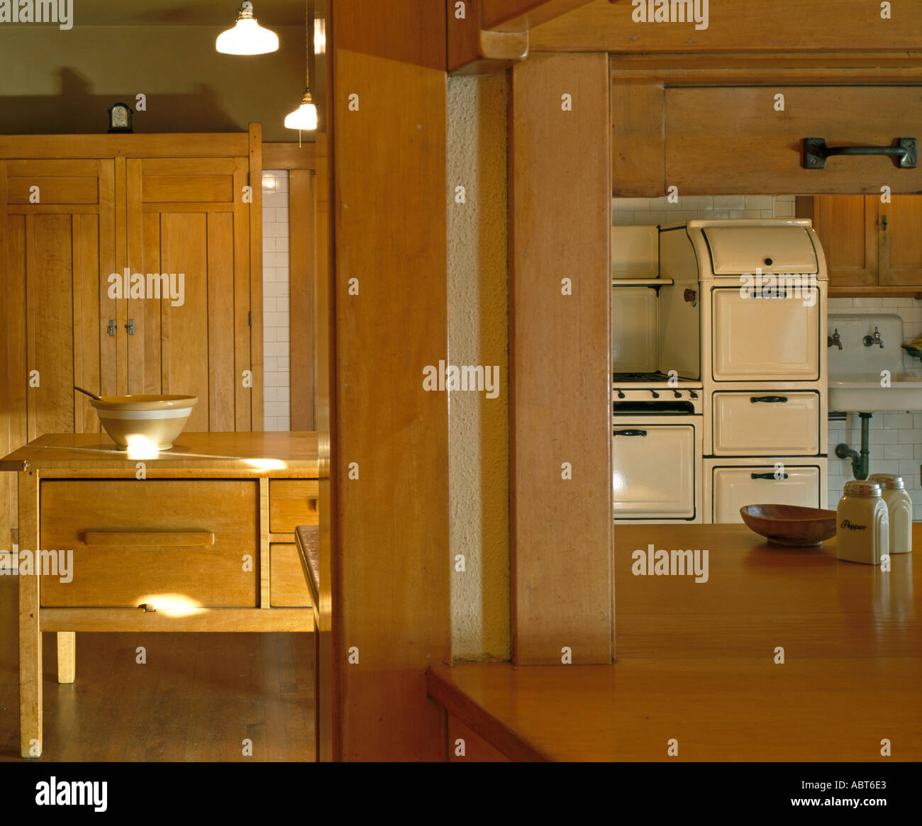 Stock Photo   The David B. Gamble House, Pasadena, California, 1908 9. The  Kitchen. Architect: Greene And Greene Part 67