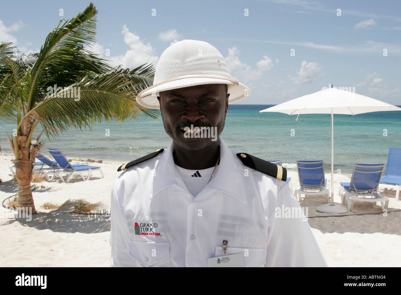 Grand Turk Cockburn Town Cruise Ship Center Beach Black Male - Is there security on cruise ships