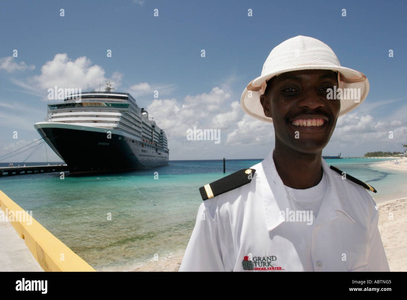 Grand Turk Cockburn Town Cruise Ship Center Black Male Security - Is there security on cruise ships