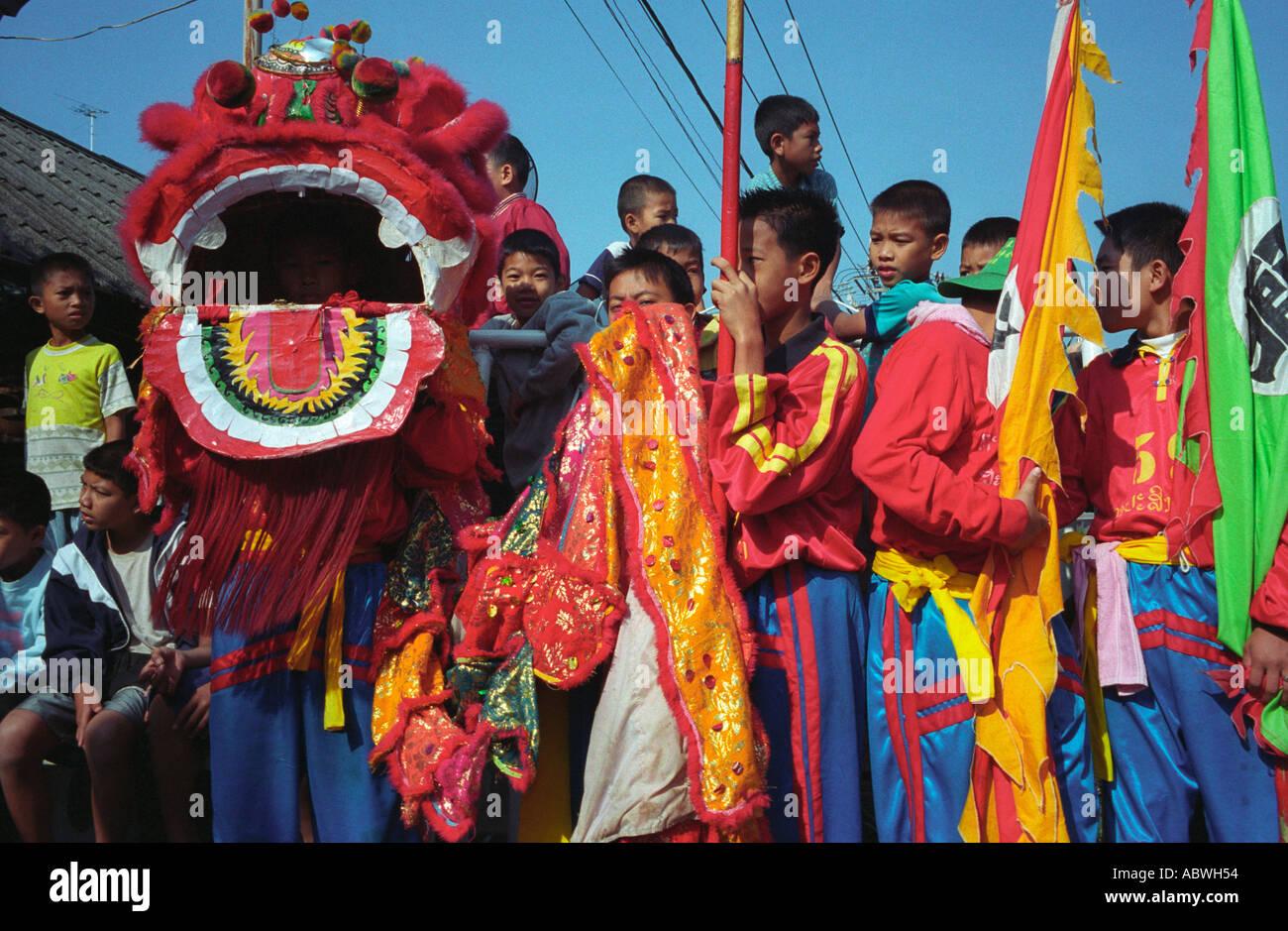 chinese new year celebrations vientiane laos january 2004 - Chinese New Year 2004