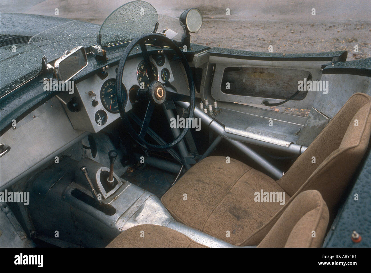 jaguar c type classic car interior stock photo royalty free image 2421936 alamy. Black Bedroom Furniture Sets. Home Design Ideas