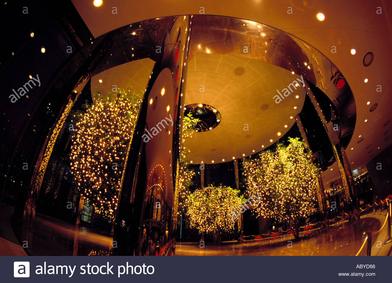 How to start a christmas decor business - Stock Photo Christmas Decoration Lobby Office Building Lights Reflexion Business Economy Luxury Prosperity Success Hong Kong China Asia