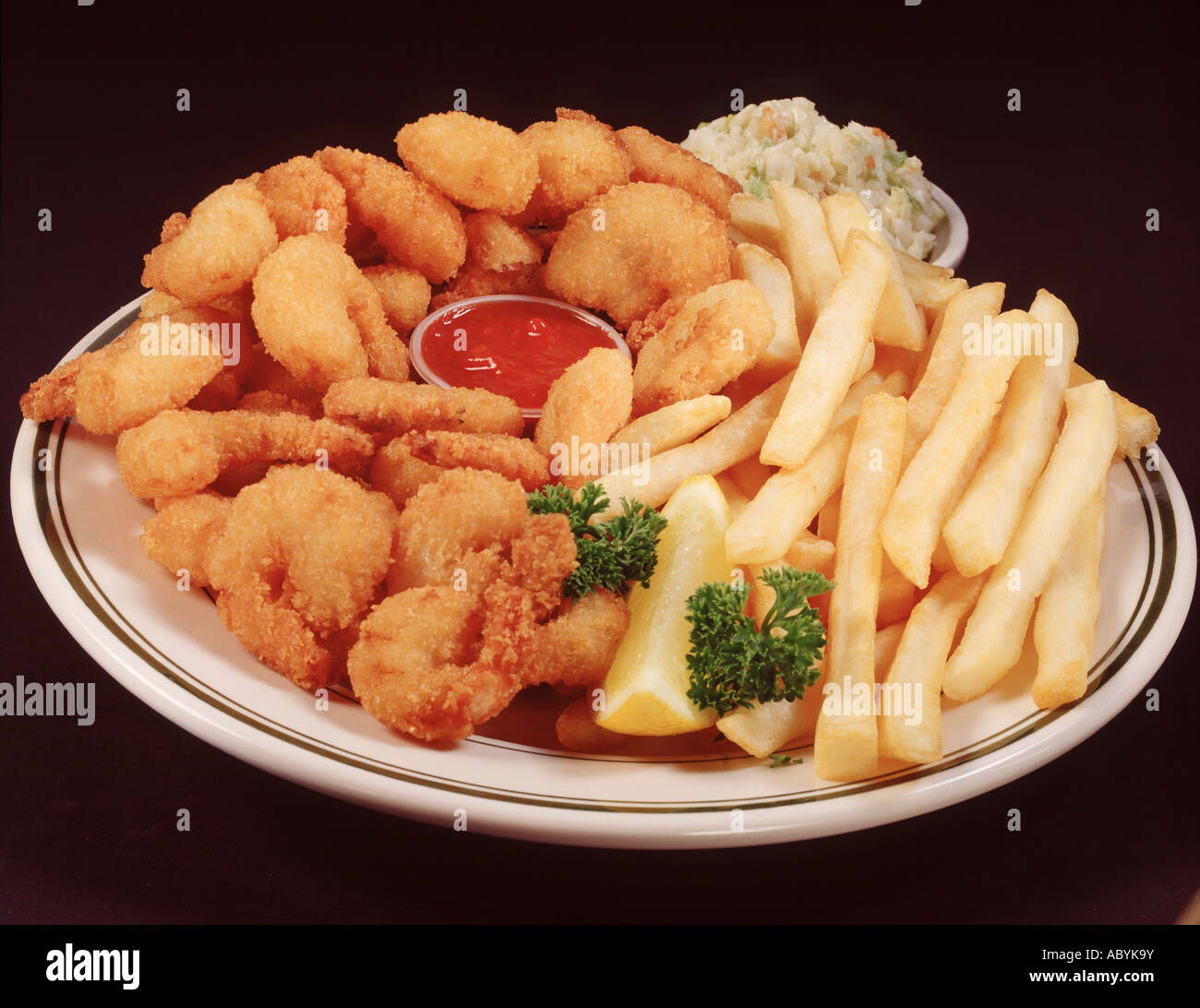 Blue plate special fried fish shrimp chips french fry for Fried fish and shrimp