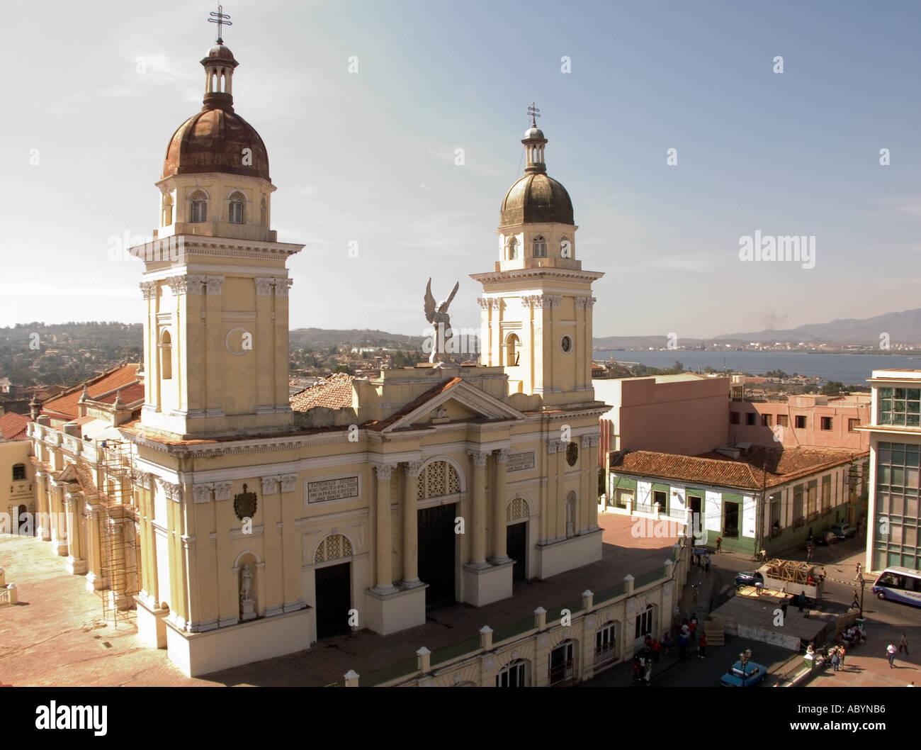 Catedral De Nuestra Senora De La Asuncion In Santiago De Cuba Stock Photo, Ro...