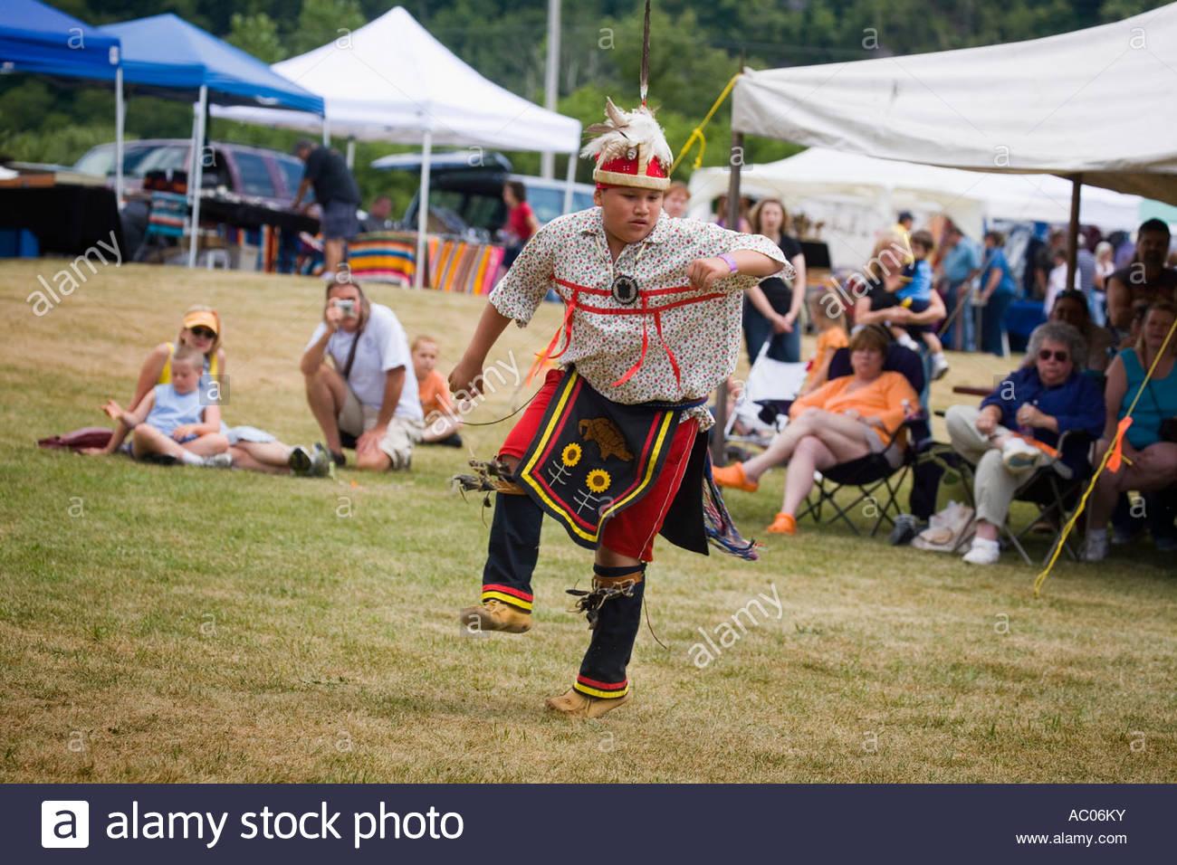 New york montgomery county fonda - Adolescent Male Traditional Dancing At Annual Kanatsiohareke Mohawk Indian Festival Fonda New York Montgomery County