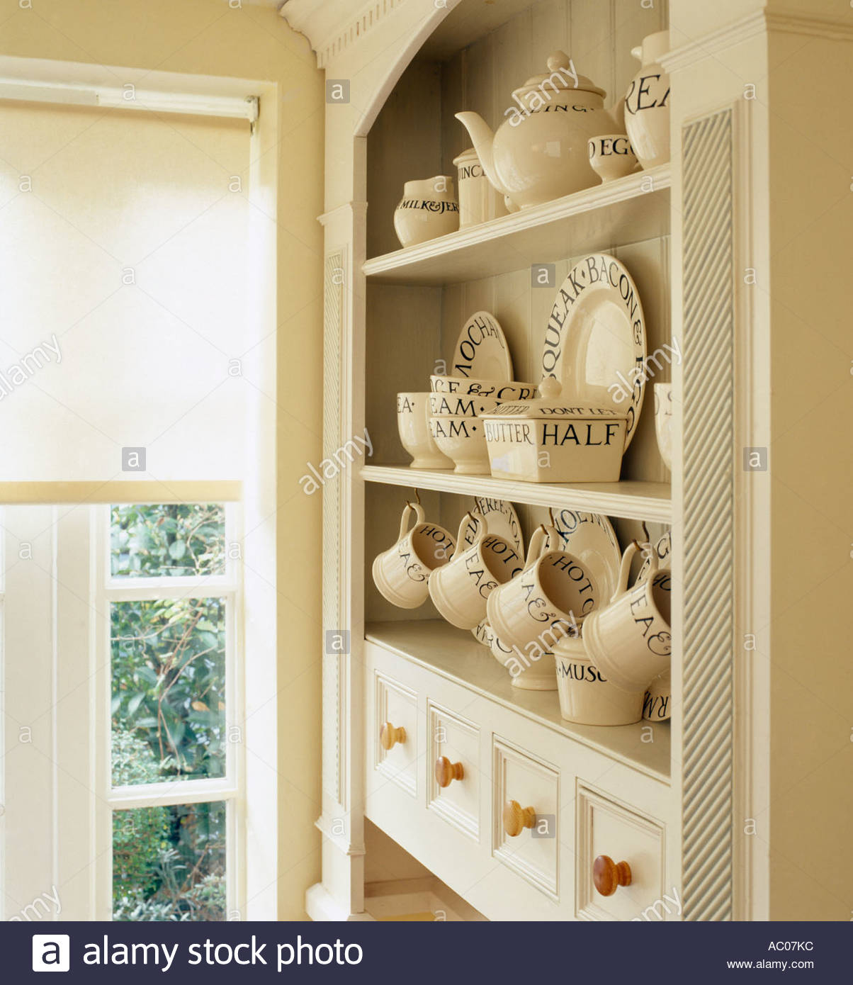 Kitchen Dresser hand painted welsh dresser in bespoke kitchen Kitchen Dresser With Emma Bridgewater China