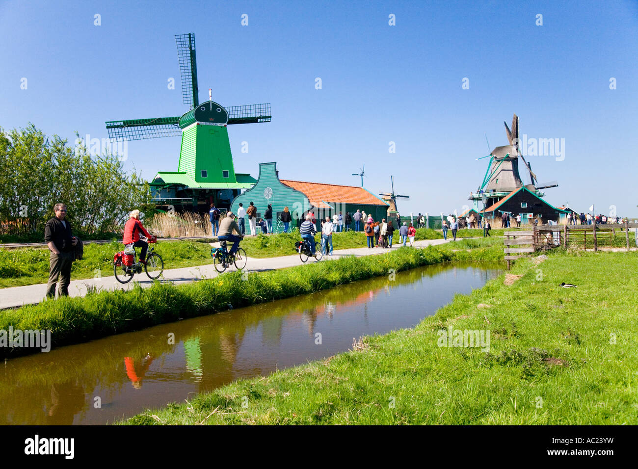 iconic photo of holland netherlands near amsterdam at de zaanse