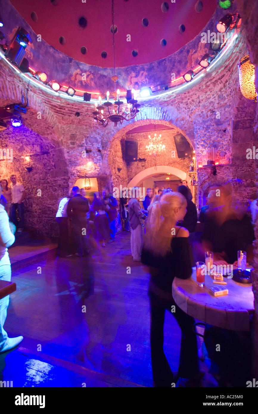Gallery images and information kos greece nightlife -  People Amusing In The Nightclub Hamam Club Kos Town Kos Greece Stock Photo