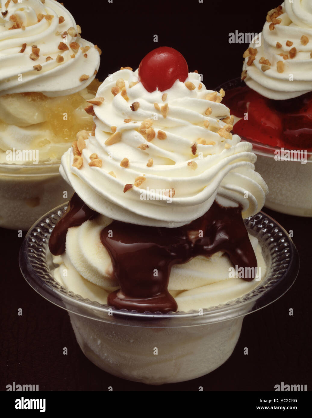 chocolate ice cream sundae sunday whipped cream cherry ...