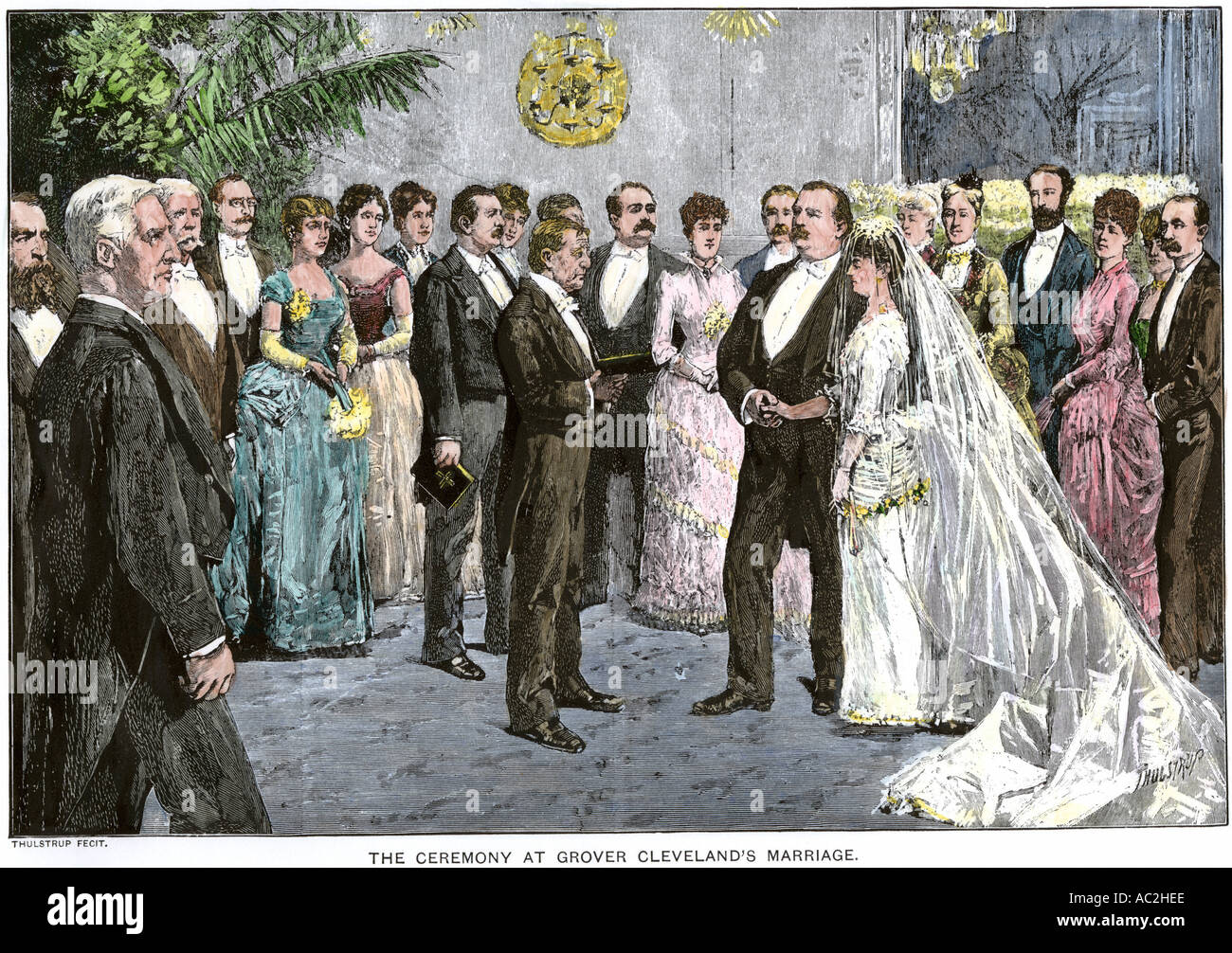 President Grover Cleveland Wedding In The White House Blue Room Stock Photo Royalty Free Image