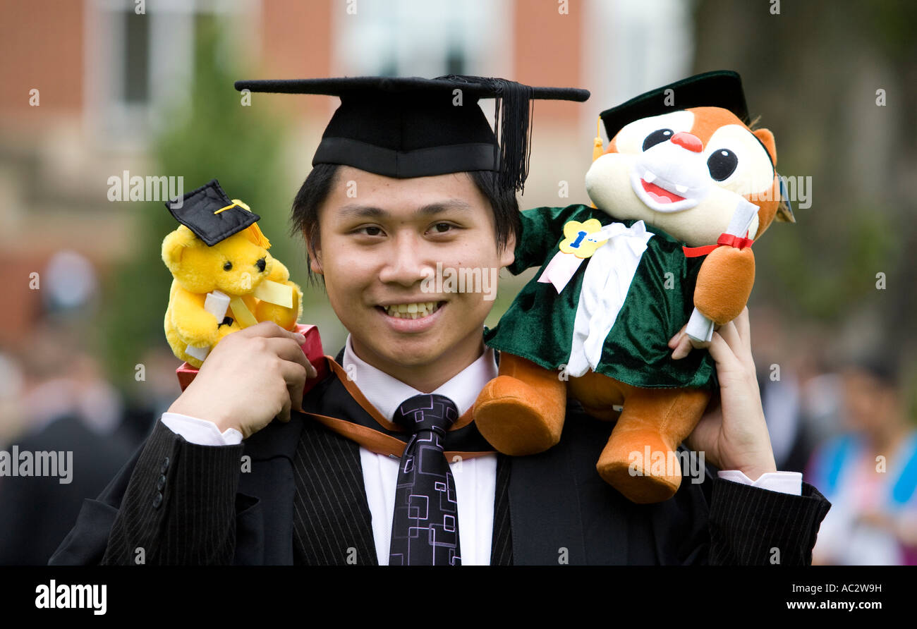 a university of birmingham student his mascots after a university of birmingham student his mascots after graduating england uk