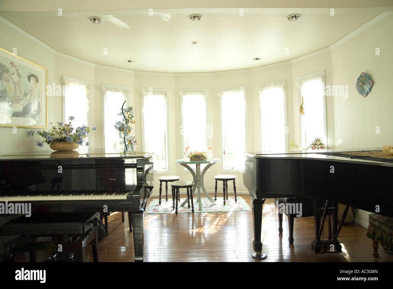 Two grand pianos in living room Stock Photo: 13028276 - Alamy