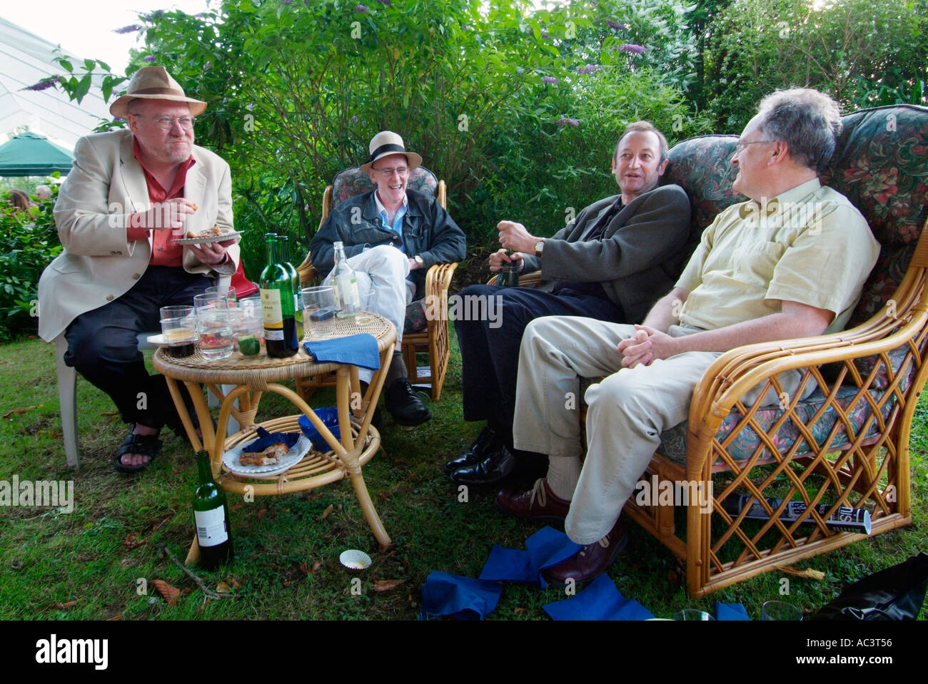 Gardening Group: Middle Aged Group Male Men Garden Party Grumpy Old Discuss